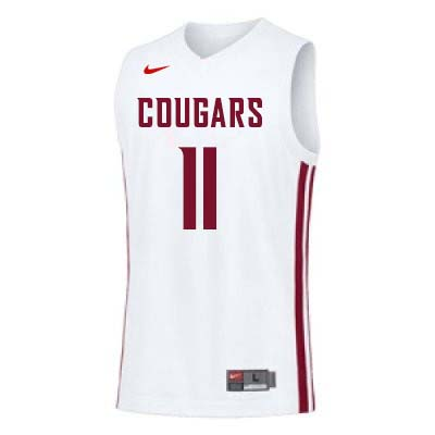 Men #11 Don Collins Washington State Cougars College Basketball Jerseys Sale-White