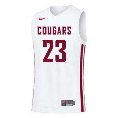 Men #22 Isaac Fontaine Washington State Cougars College Basketball Jerseys Sale-White