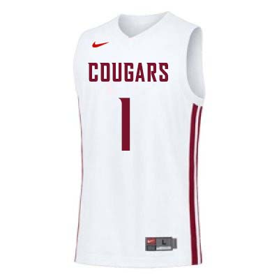 Men #1 Jamar Ergas Washington State Cougars College Basketball Jerseys Sale-White