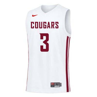 Men #3 Robert Franks Washington State Cougars College Basketball Jerseys Sale-White