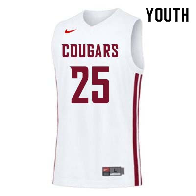 Youth #25 Arinze Chidom Washington State Cougars College Basketball Jerseys Sale-White