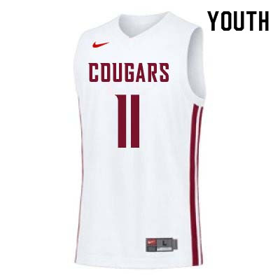 Youth #11 Don Collins Washington State Cougars College Basketball Jerseys Sale-White