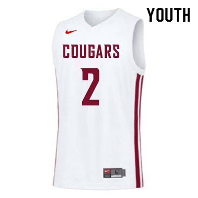 Youth #2 TJ Mickelson Washington State Cougars College Basketball Jerseys Sale-White